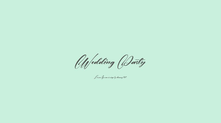 Wedding Party Font