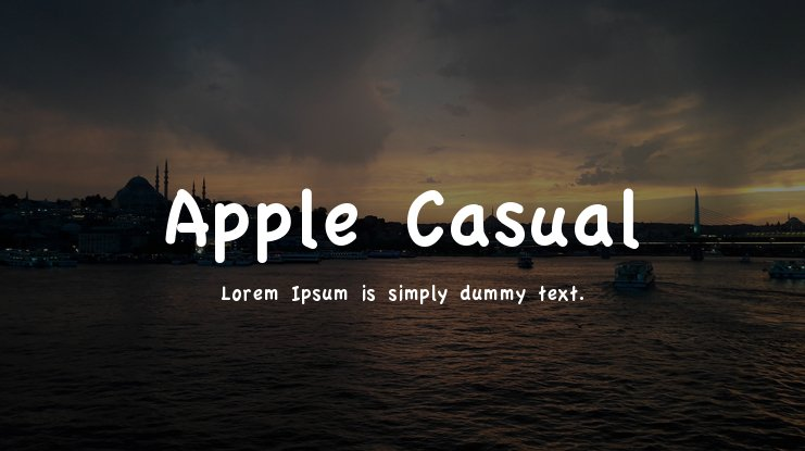 Apple Casual Font
