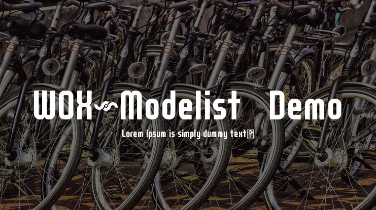 WOX~Modelist   Demo Font Family