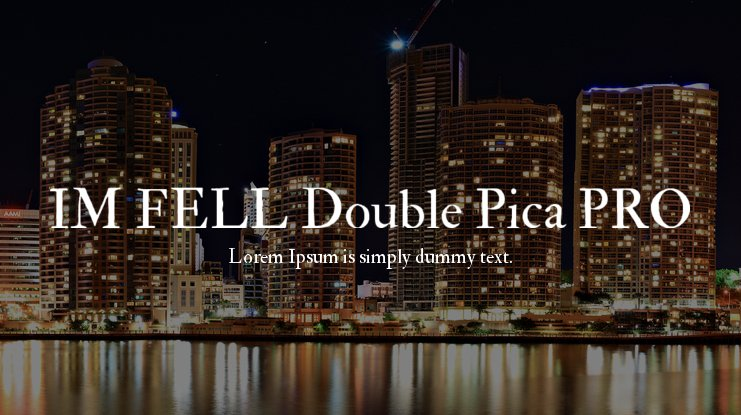 IM FELL Double Pica PRO Font Family
