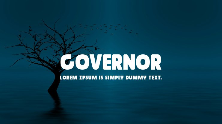 Governor Font Family
