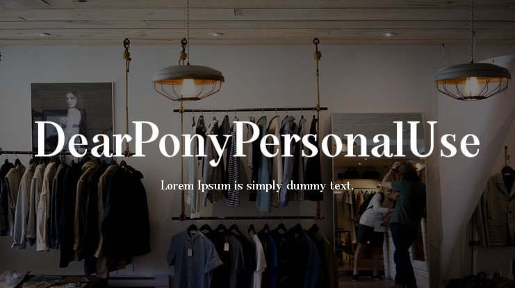 DearPonyPersonalUse Font Family