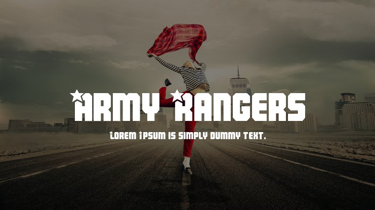Army Rangers Font Family