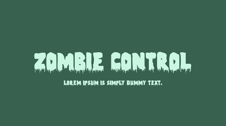 Zombie Control Font Family