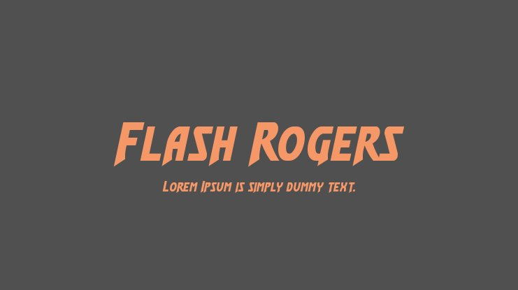 Flash Rogers Font Family
