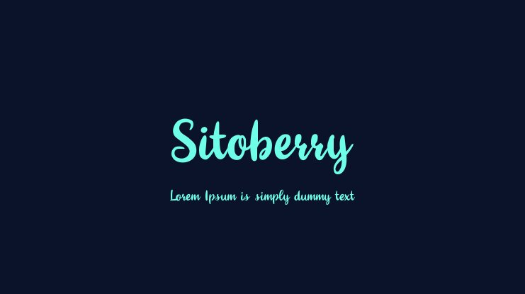 Sitoberry Font