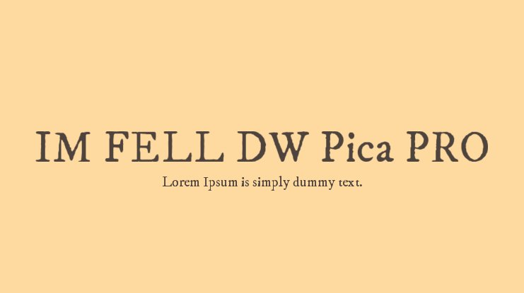 IM FELL DW Pica PRO Font Family