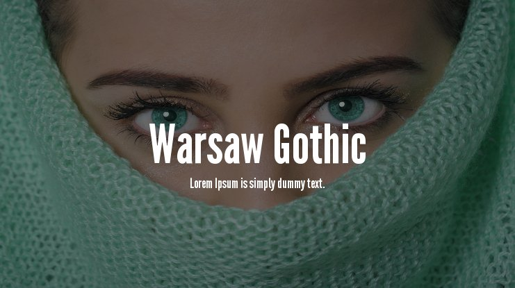 Warsaw Gothic Font Family
