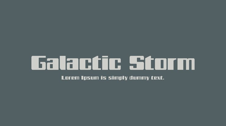 Galactic Storm Font Family