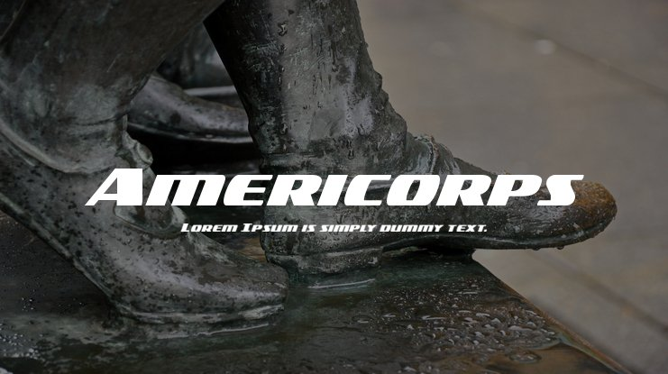 Americorps Font Family