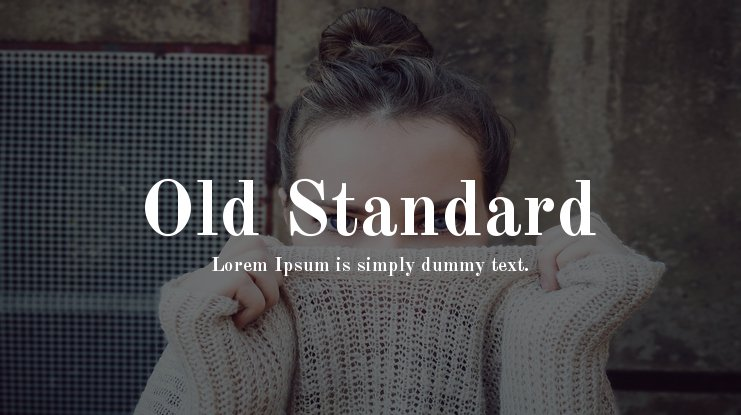 Old Standard Font Family