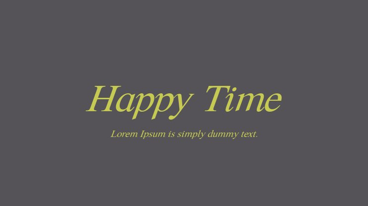 Happy Time Font Family