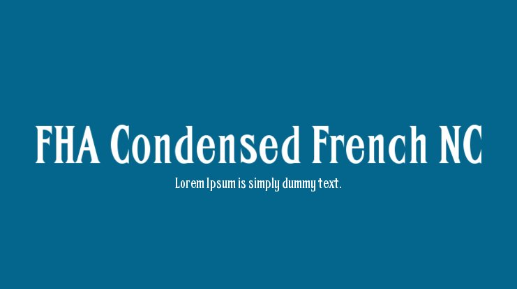 FHA Condensed French NC Font Family