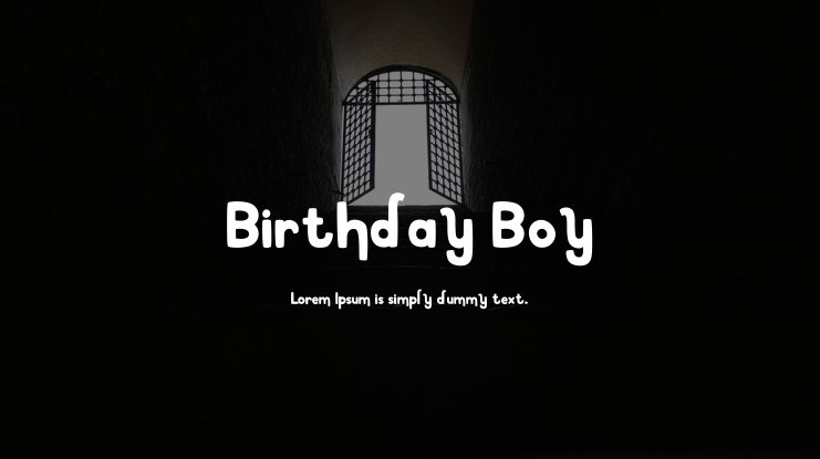 Birthday Boy Font