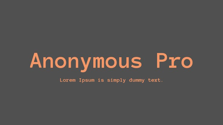 Anonymous Pro Font Family