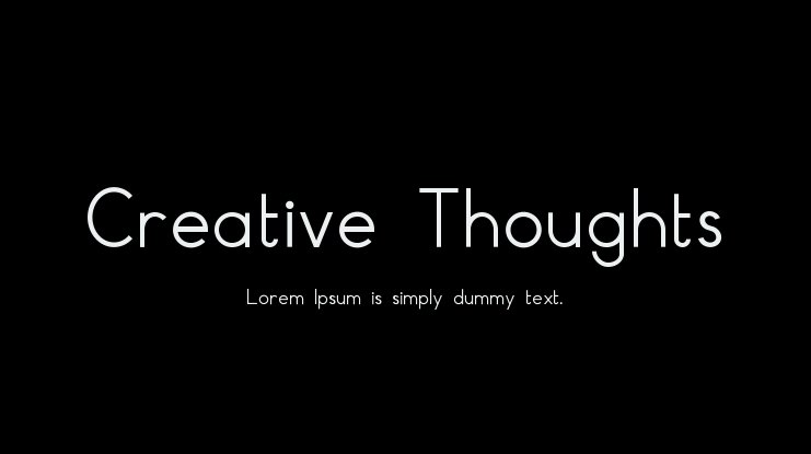 Creative Thoughts Font
