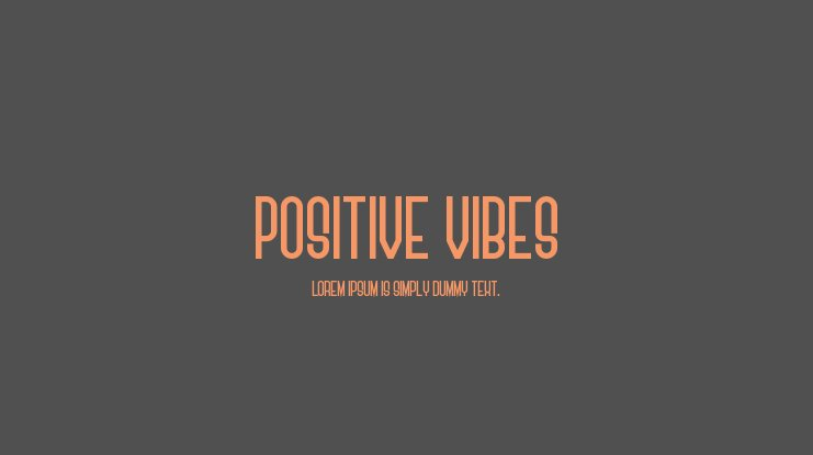 Positive Vibes Font