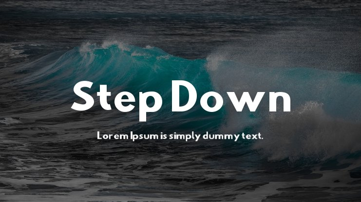 Step Down Font Family
