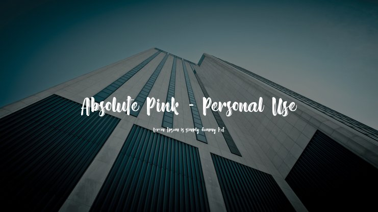Absolute Pink - Personal Use Font