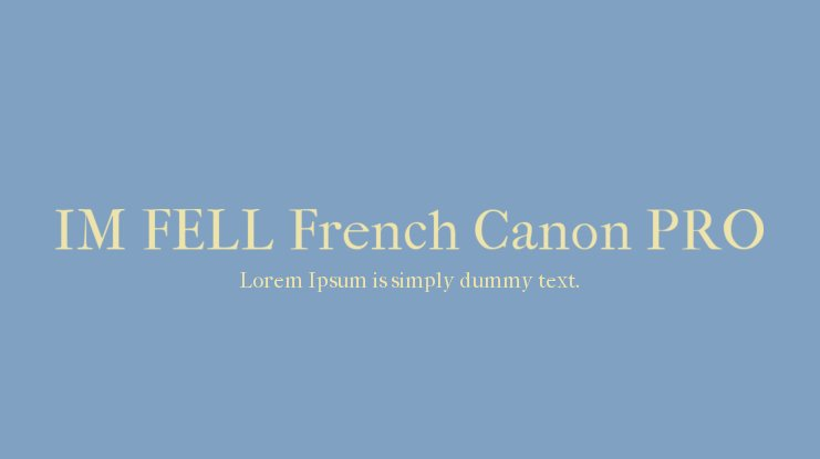 IM FELL French Canon PRO Font Family