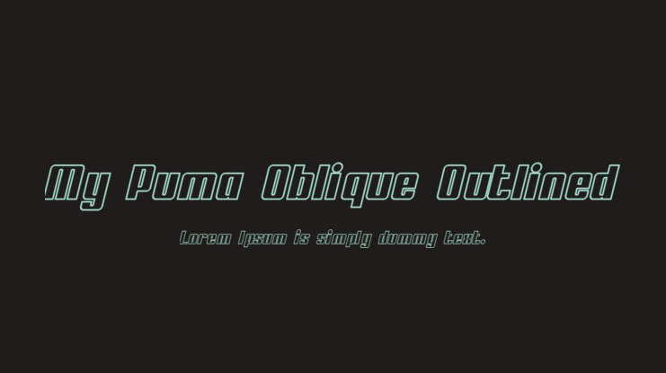 My Puma Oblique Outlined Font Family