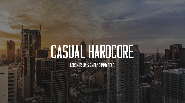 Casual Hardcore Font