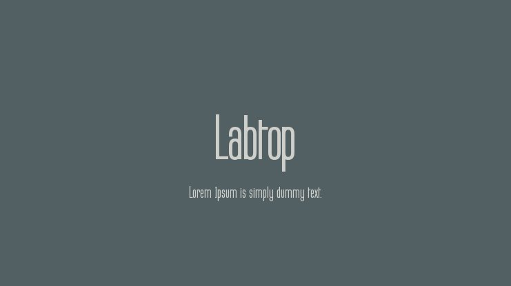 Labtop Font Family