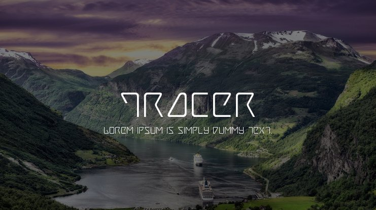 Tracer Font Family