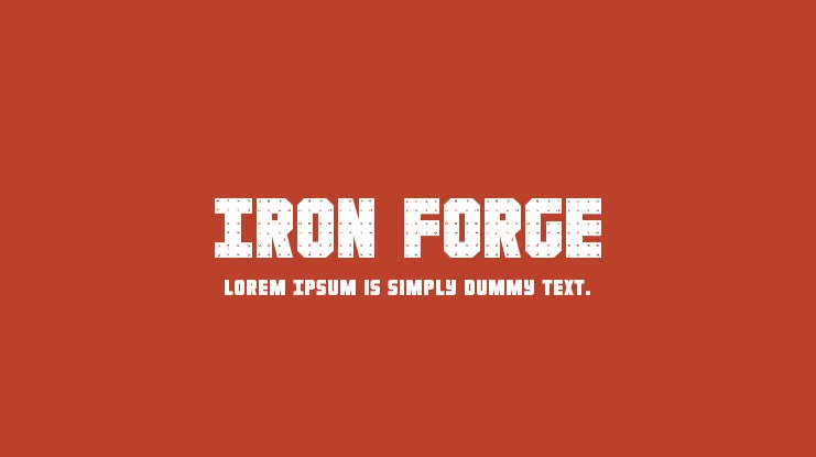 Iron Forge Font Family