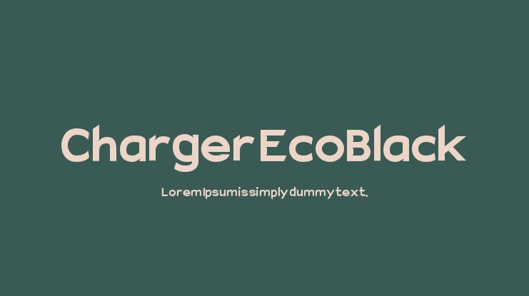 Charger EcoBlack Font Family