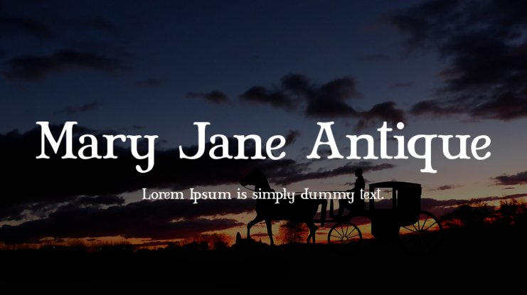 Mary Jane Antique Font Family