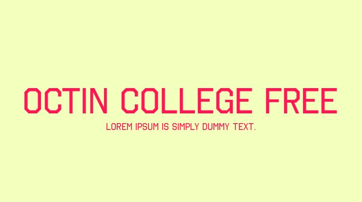 Octin College Free Font