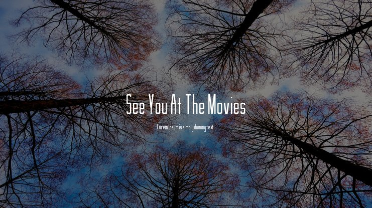See You At The Movies Font
