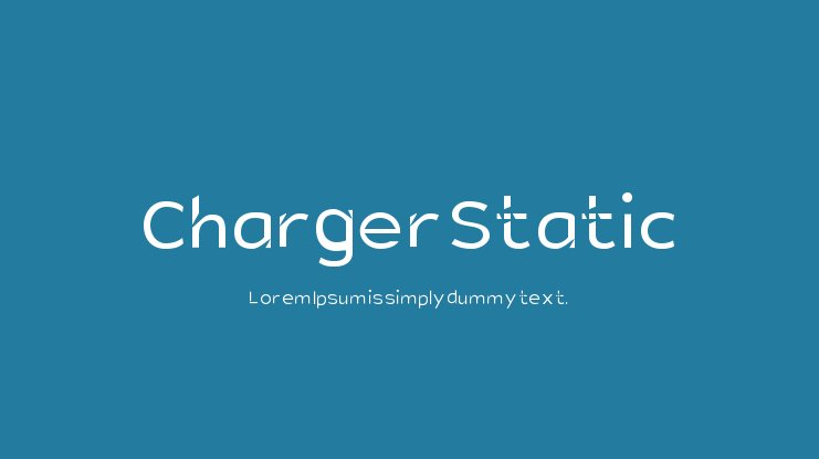 Charger Static Font Family