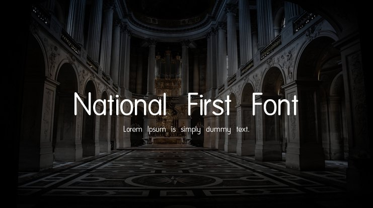 National First Font