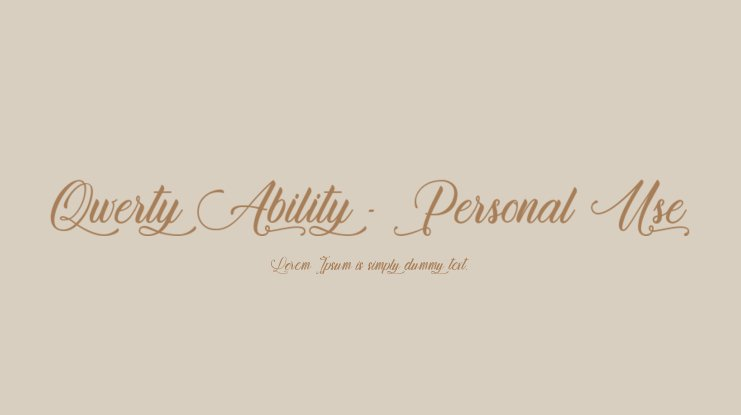 Qwerty Ability - Personal Use Font
