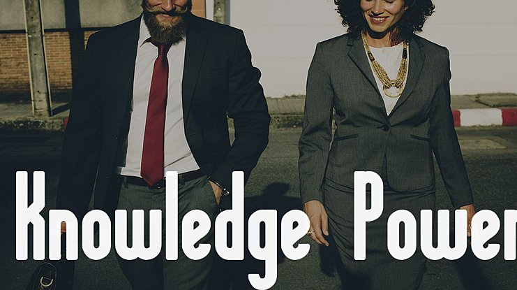 Knowledge Power Font Family