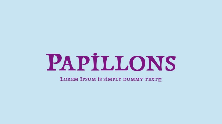 Papillons Font Family