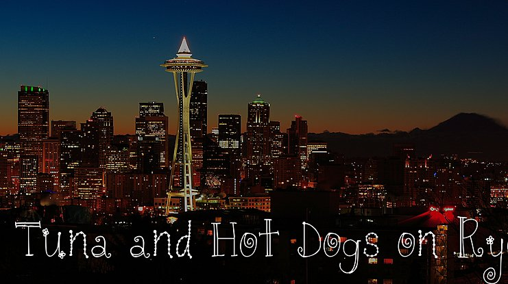 Tuna and Hot Dogs on Rye font