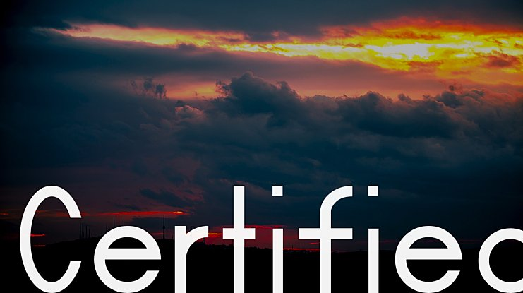 Certified Font Family