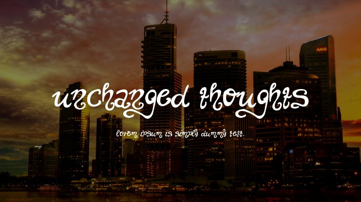 Unchanged Thoughts Font