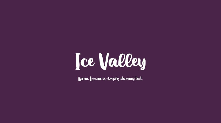 Ice Valley Font
