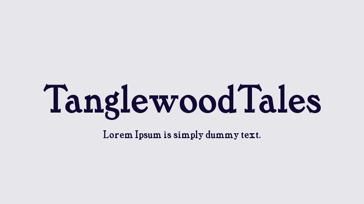 TanglewoodTales Font Family
