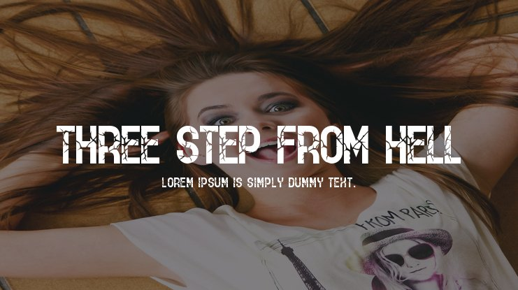 THREE STEP FROM HELL Font