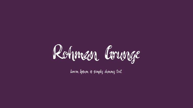 Rohman Grunge Font Family