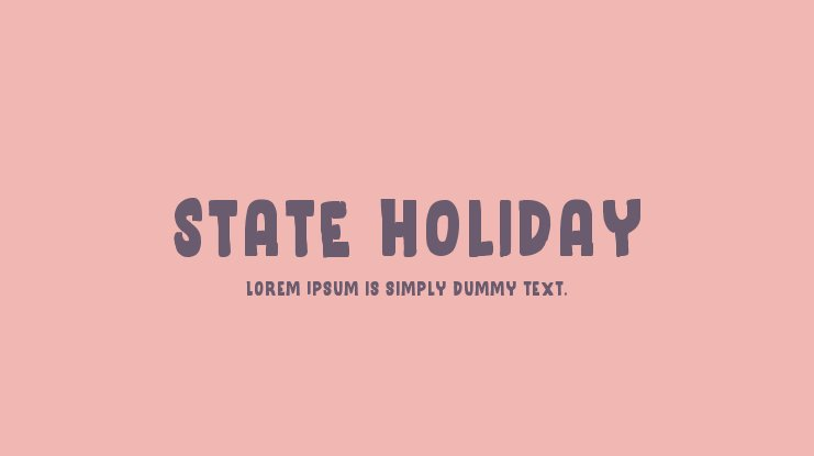 State Holiday Font