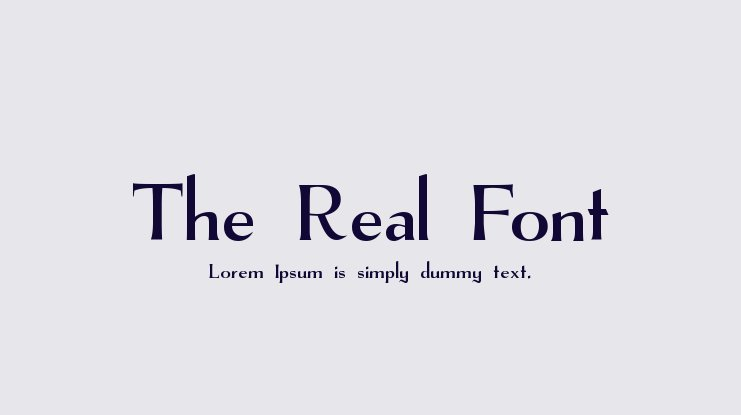 The Real Font