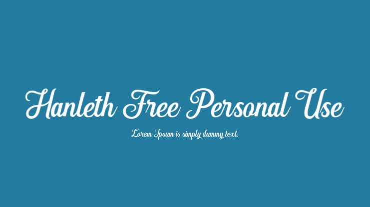 Hanleth Free Personal Use Font