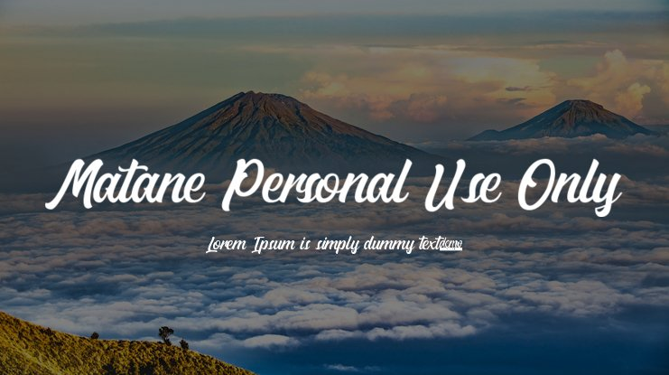 Matane Personal Use Only Font