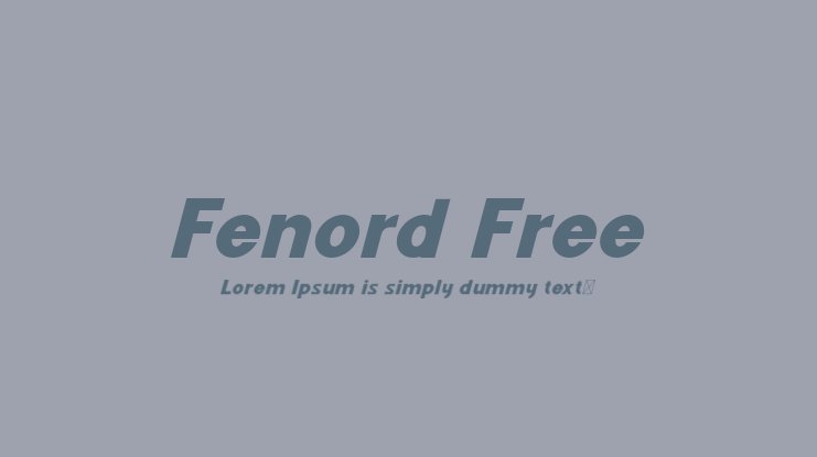 Fenord Free Font Family